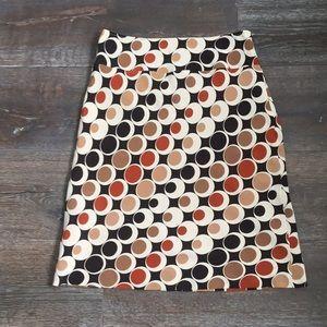 100% silk pattern skirt